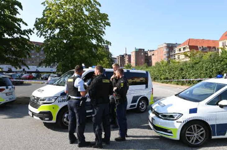 Politiet var onsdag massivt til stede i Aalborg.
