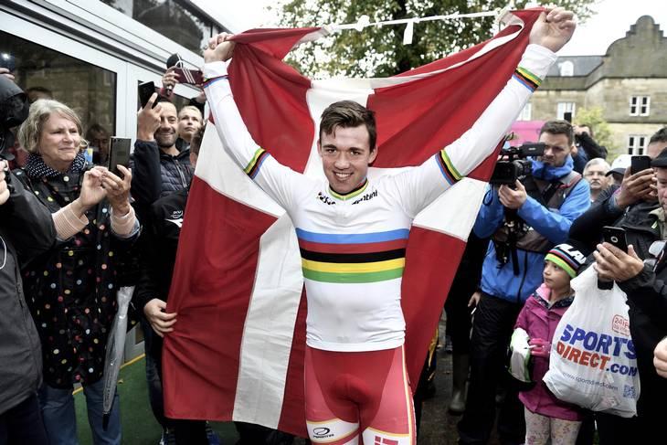 Mads Pedersen vandt VM i 2019. Foto: Tariq Mikkel Khan
