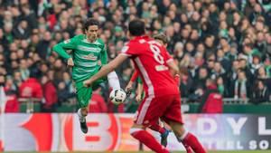 Delaney i en tidligere kamp mod Bayern. Foto: All Over