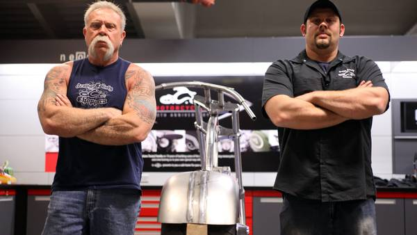 De to store fyre Paul Teutul Sr. og Paul Teutul Jr. advarer mod små motorcykler. Foto: All Over Press