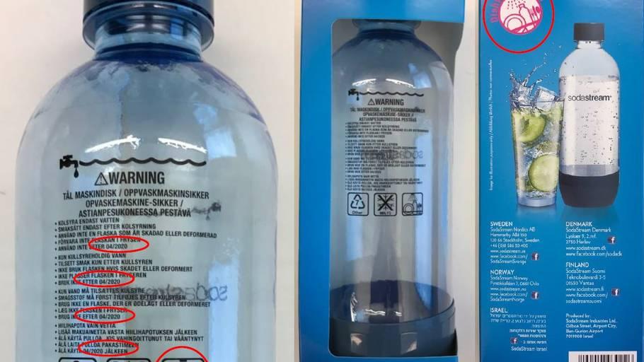 sodastream ekstra flasker