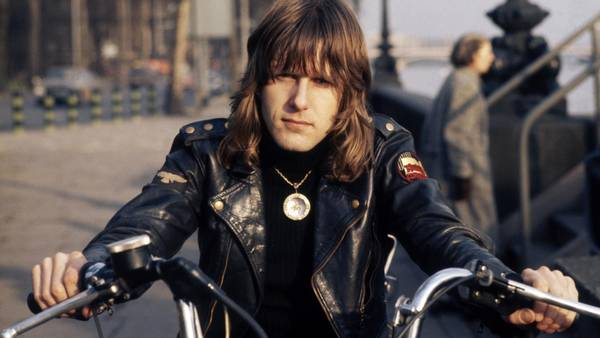 Keith Emerson fra supergruppen Emerson, Lake & Palmer i London under trioens storhedstid midt i 1970'erne. (Foto: Polfoto)