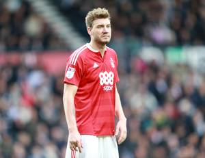 Nicklas Bendtner har ikke været i aktion i en måned for Nottingham Forest. Foto: All Over Press