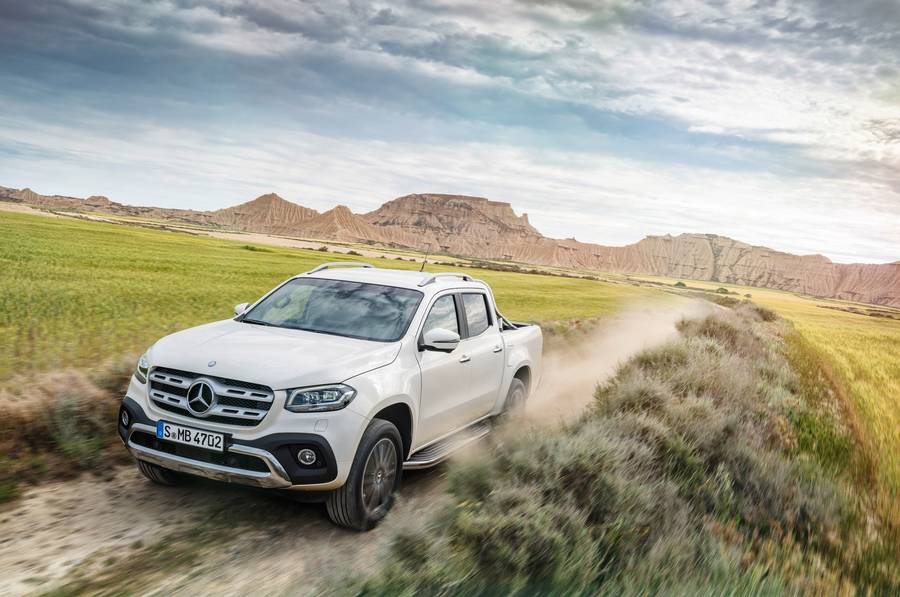 Mercedes' nye X-klasse er efter tyskernes eget udsagn den eneste pickup fra et luksusmærke. Foto: Mercedes-Benz