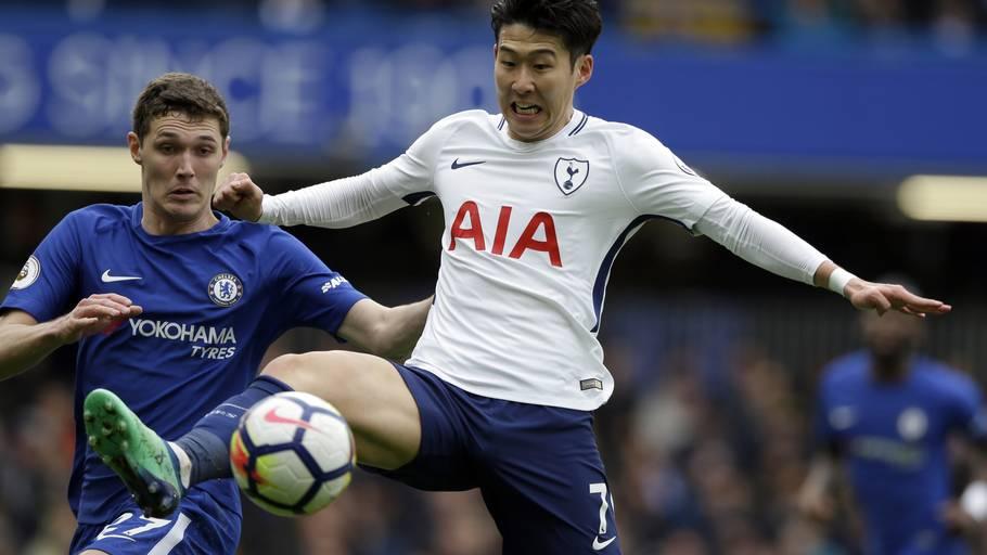7862b03a Andreas Christensen i duel med Tottenhams Heung-Min Son tidligere i april.  Foto:
