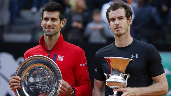 Andy Murray besejrede for en sjælden gangs skyld Novak Djokovic ved Rome Open (Foto: AP)