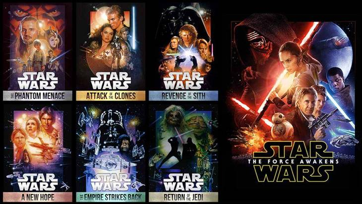 hvor mange star wars film er der