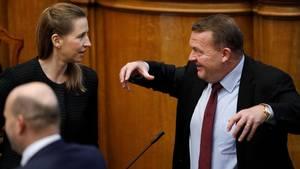 Lars Løkke og Venstre-ministrene skrev Herning ind i regeringsgrundlaget, når det kom til en ny politiskole. Polfoto: Jens Dresling.