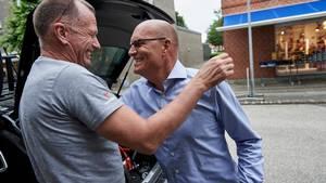 Kim Andersen og Bjarne Riis har lagt gammelt nag bag sig og er igen gode venner. Foto: Claus Bonnerup