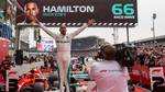 Hamilton var en glad man efter dagens Grand Prix. Foto: Manuel Goria/Sutton Images/REX/All over press