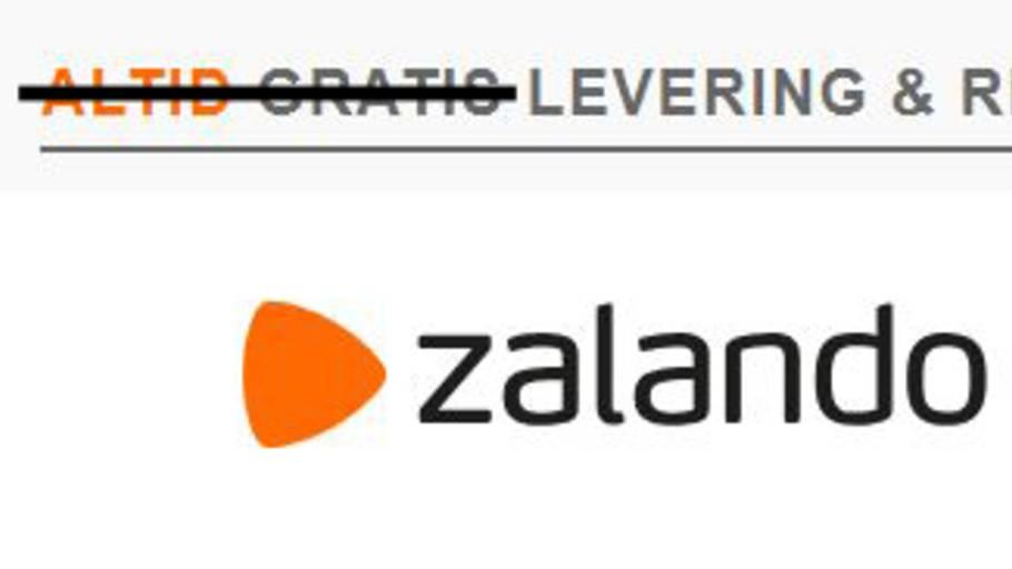 01c500e9 20. maj er det slut med gratis fragt hos Zalando, medmindre du køber for