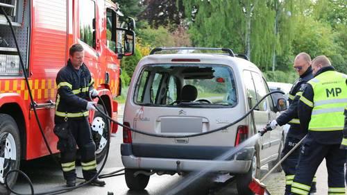 Her ses den bil, manden ramte. (Foto: Steven Knap/Droto.dk)