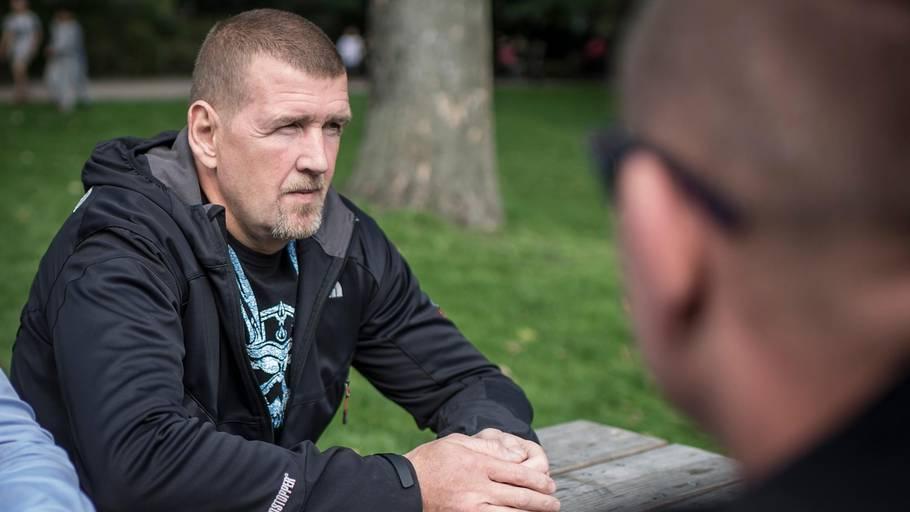 HA-rockeren Jørgen 'Fehår' Rinke er tilltalt for at være en af flere bagmænd i en hashliga. Foto: Jonas Olufson