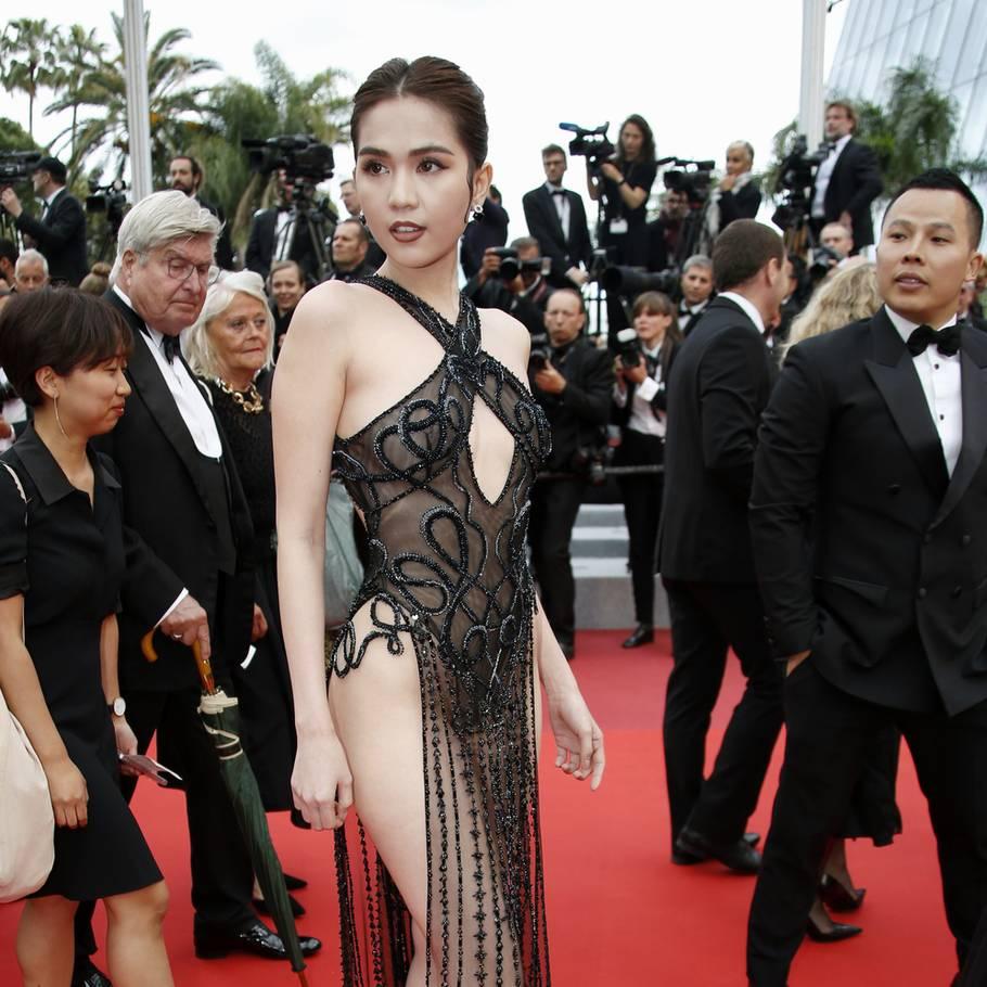 d0338646 Modellen Ngoc Trinh har skabt heftig debat i hjemlandet, efter hun troppede  op på den
