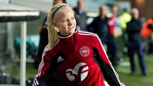 Pernille Harder er kåret til årets MVP og årets angriber i Sverige. Foto: All Over