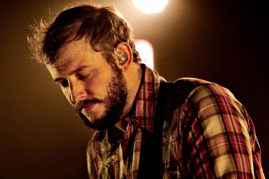 Amerikanske Justin Vernon alias Bon Iver giver udsolgte koncerter i Den Grå Hal på Christiania 2. og 3. februar. Foto: Polfoto