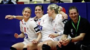 Christina Krogshede i selskab med Camilla Dalby og Susan Thorsgaard under EM i Danmark i 2010. (Arkivfoto: Jens Dresling)