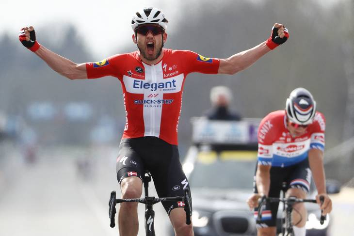 Kasper Asgreen vandt Flandern Rundt i april. Foto: David Pintens/Ritzau Scanpix