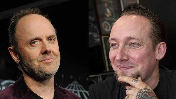 Lars Ulrich og Michael Poulsen - de to populære danskere deler management i New York. Foto: All Over og Thomas Sjørup