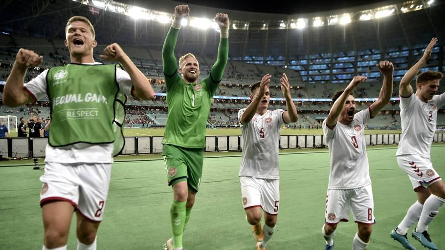 Første mål er nået. Nu går danskerne efter EM-guldet. Foto: Lars Poulsen