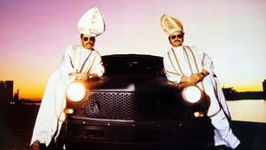 Siden 1983 har Brødrene Bisp alias Michael Wikke og Steen Rasmussen hængt sammen. Foto: DR