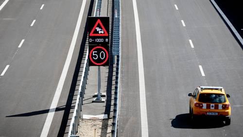 Her ses den nye motorvej, der blev indviet i september. Foto: Anders Brohus