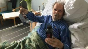 En sund og lækker smoothie hjælper tilsyneladende Møllehave til kræfter. Foto: Henrik Volf Andersen