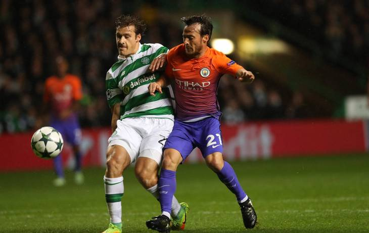 Sviatchenko i aktion mod Manchester City i forrige sæson i Champions League. Foto: All over press