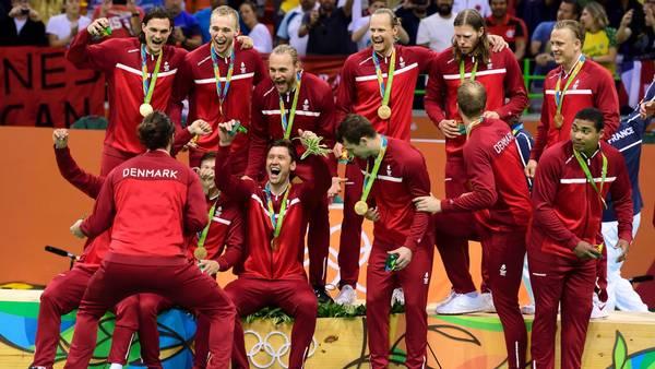 De danske håndbold-herrer sørgede for at lukke OL af med en dansk guldmedalje. Foto: Tariq Mikkel Khan