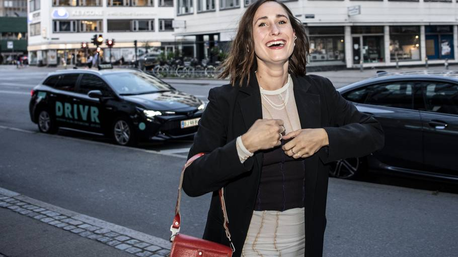 Rosalinde Mynster kom for sent til premieren på 'Hvor kragerne vender'. I filmen spiller hun hovedrollen - Laura. Foto: Linda Johansen
