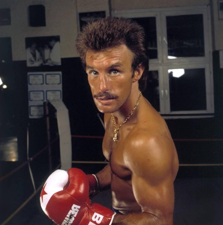 René Weller fotograferet i 1983, hvor han hentede EM-bæltet i letvægt. Foto: Jörg Schmitt/Ritzau Scanpix