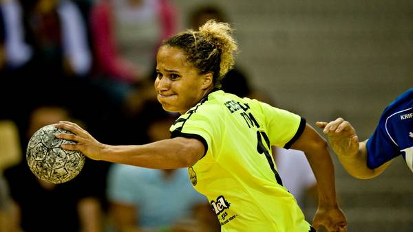 Josephine Touray i aktion for SK Aarhus. (Foto: Claus Bonnerup)