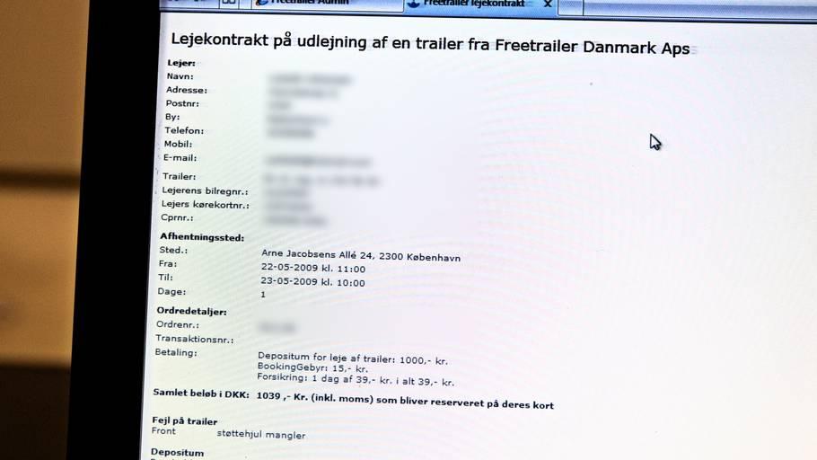 Trailerfirma Sløser Med Personnumre Ekstra Bladet
