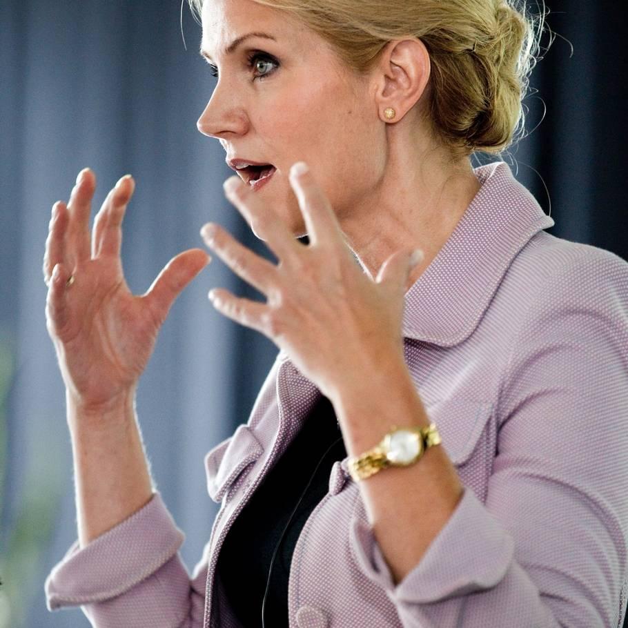 26ed01c1cc71 Helle Thorning kan have problemer med at styre sin talelyst - i TV2-duellen  torsdag