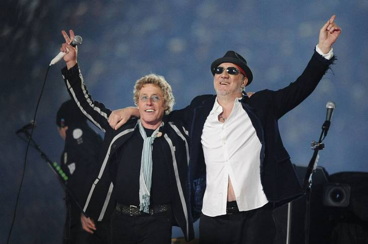 Roger Daltrey og Pete Townshend fra The Who. Foto: Mark J. Terrill