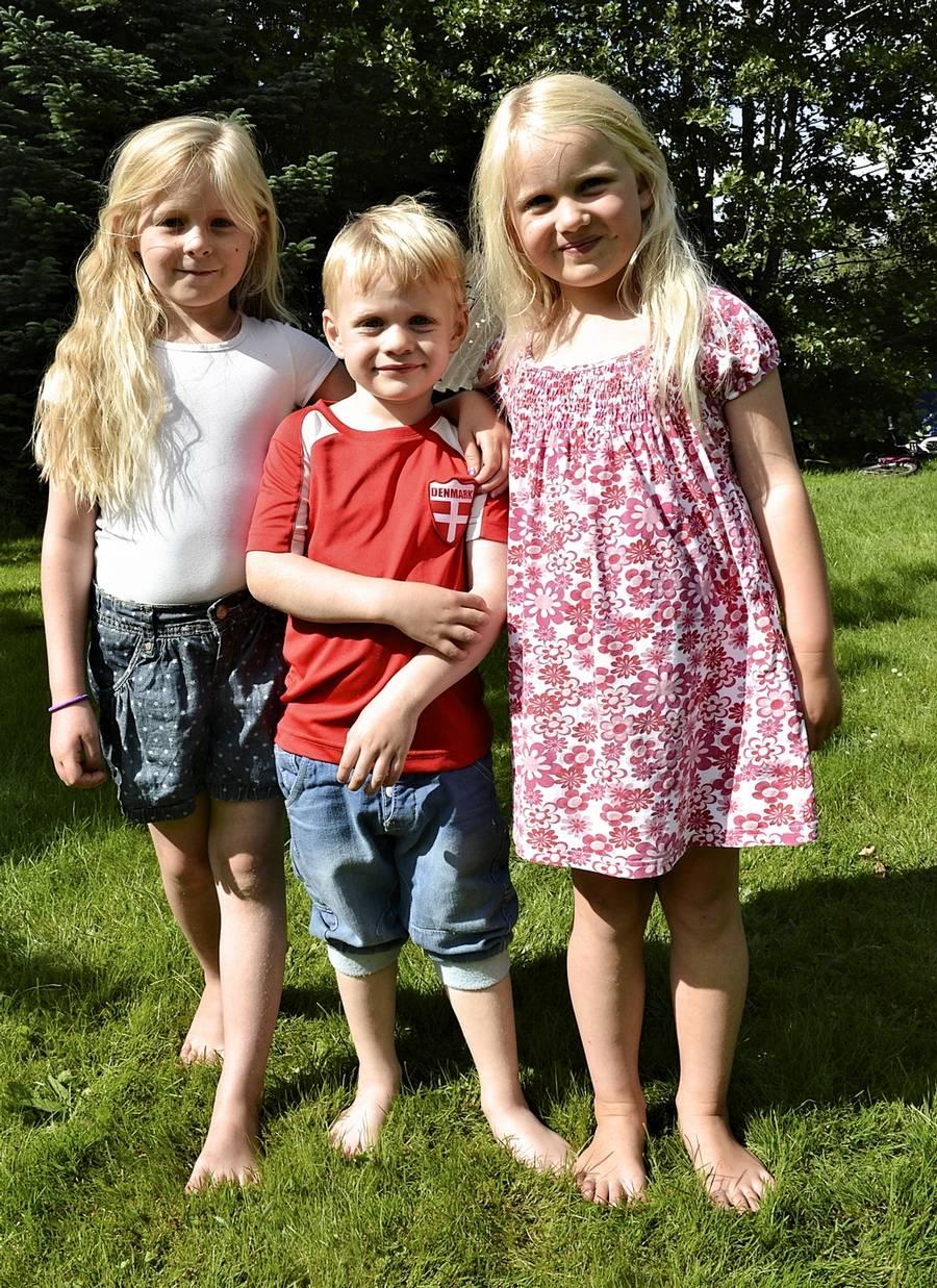 Ligner disse tre børn hinanden? Døm selv. De er 'lavet' med samme donorfar. (Foto: Ernst Van Norde)