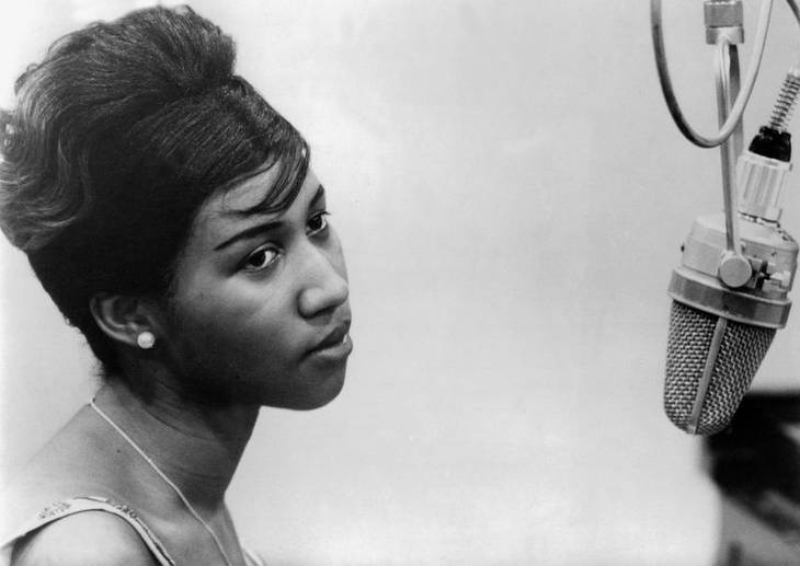 Aretha Franklin i studiet i 1961. Foto: All Over