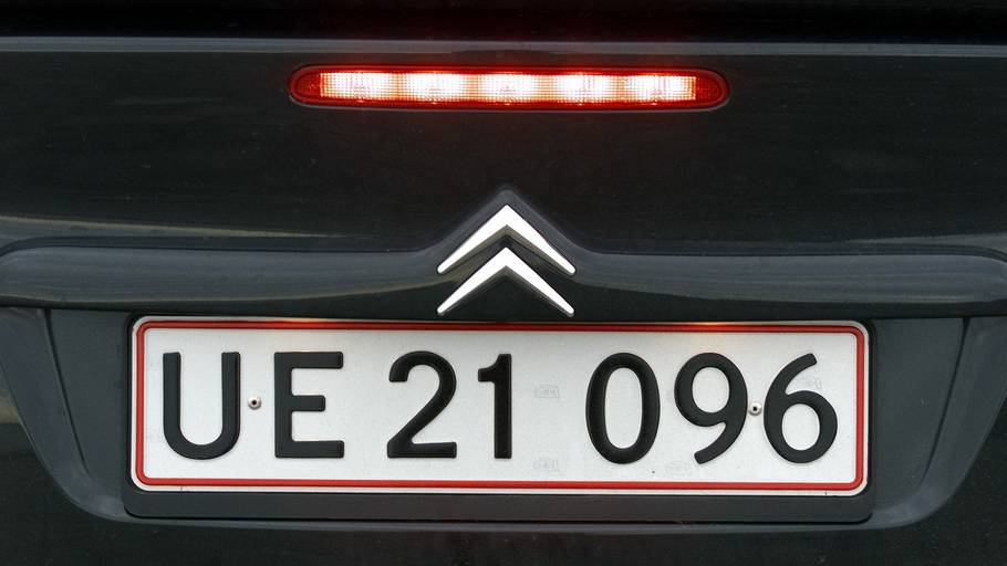 nummerplade bil