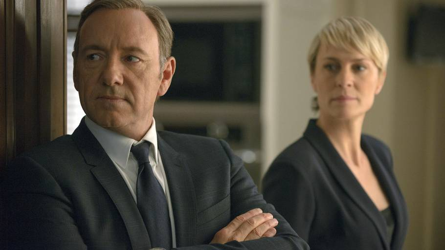Kevin Spacey og Robin Wright i 'House of Cards'. (AP Photo)