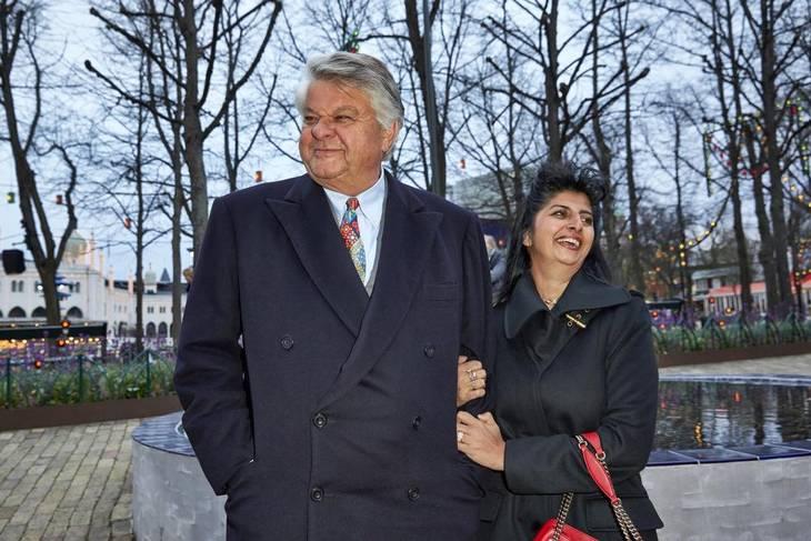 Christian Kjær og Susan Astani i Tivoli i København. Foto: Bo Nymann