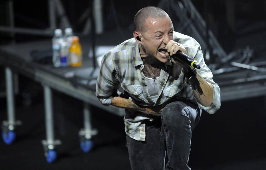 Chester Bennington i front for fornyerne Linkin Park. (Foto: AP)