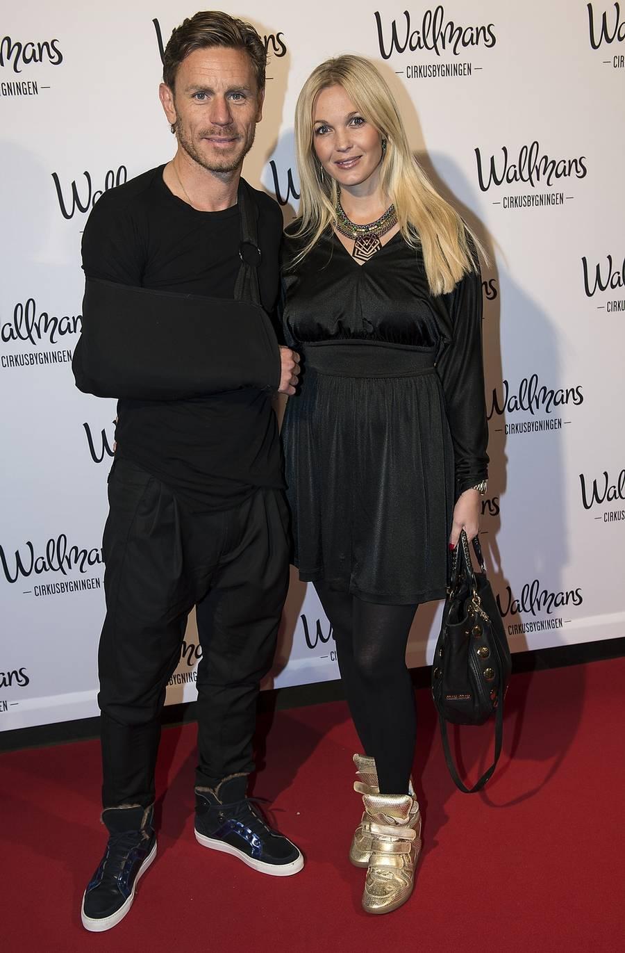 Tina Lund og Allan Nielsen - i byen for første gang efter fødslen for en måned siden. (Foto: Mogens Flindt).