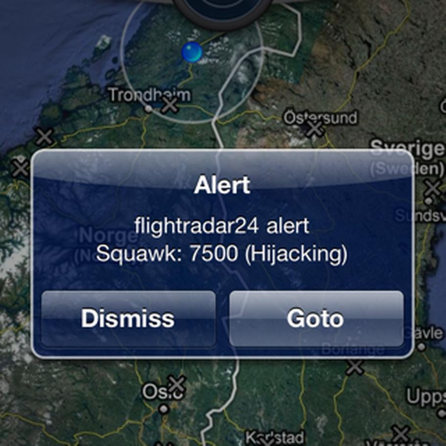 Alarm om flykapring sendt ud på iPhone – Ekstra Bladet
