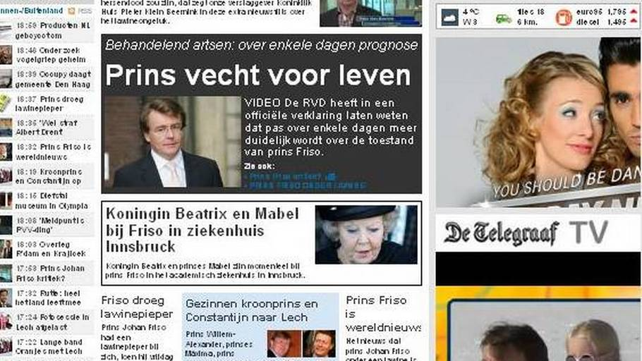 (Foto: Screendump/ De Telegraaf.nl)