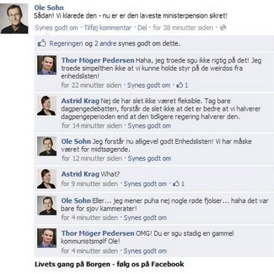 Facebook Satire Rammer Sf Ministre Ekstra Bladet