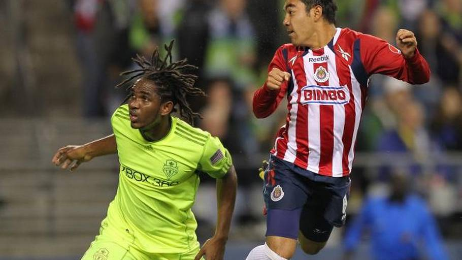Akeem Adams i aktion for Seattle Sounders. (Foto: Getty Images)