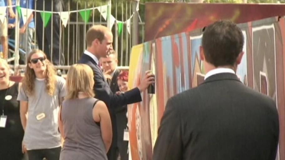 TV: Prins William maler graffiti og DJ´er – Ekstra Bladet