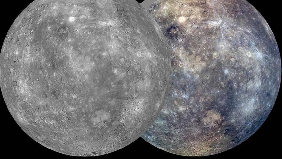 De første (næsten) komplette billeder af Merkurs overflade, der er taget af rumsonden MESSENGER. (FOTO: NASA/Johns Hopkins University Applied Physics Laboratory/Carnegie Institution of Washington)