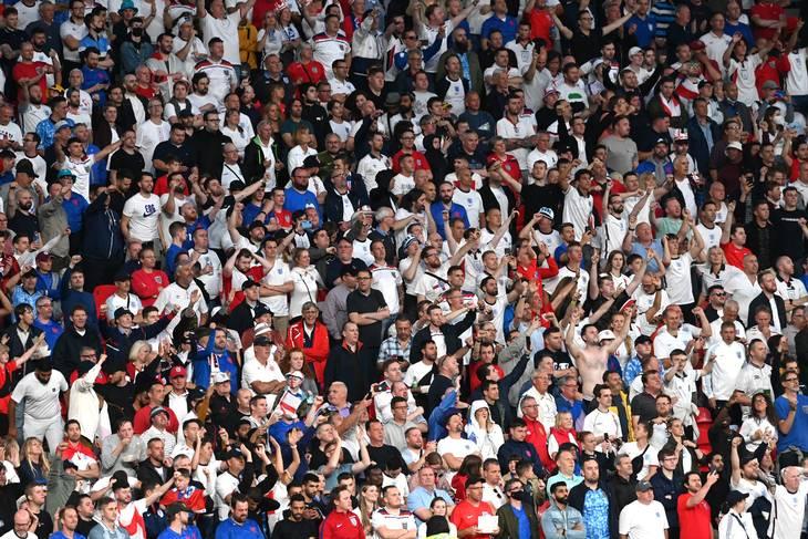 Der er eller har været personer til stede på Wembley til EM-finalen, som ikke har billet til kampen. Foto: Facundo Arrizabalaga/Reuters