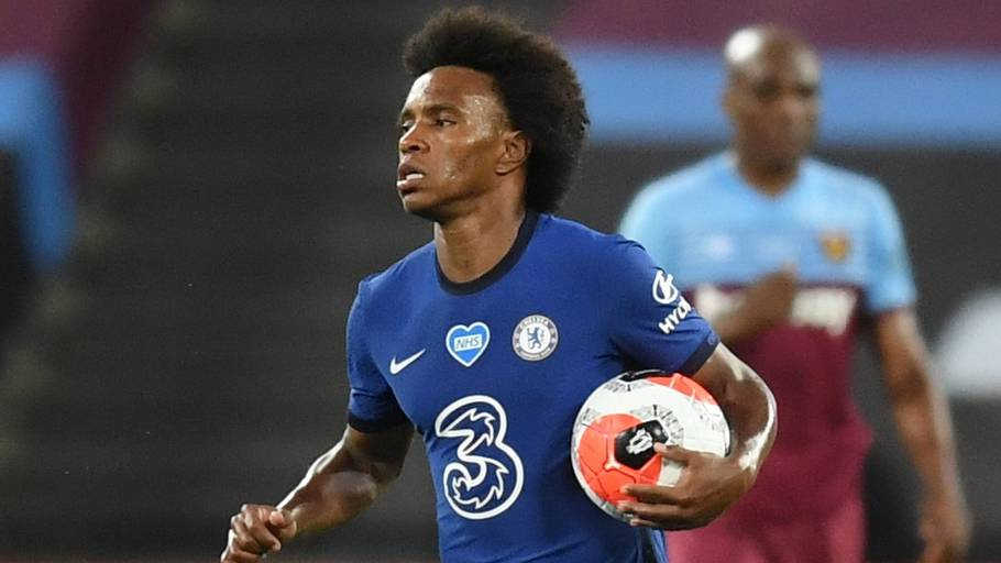 Willian blev dobbelt målscorer for Chelsea i nederlaget til West Ham. Foto: Michael Regan/Reuters